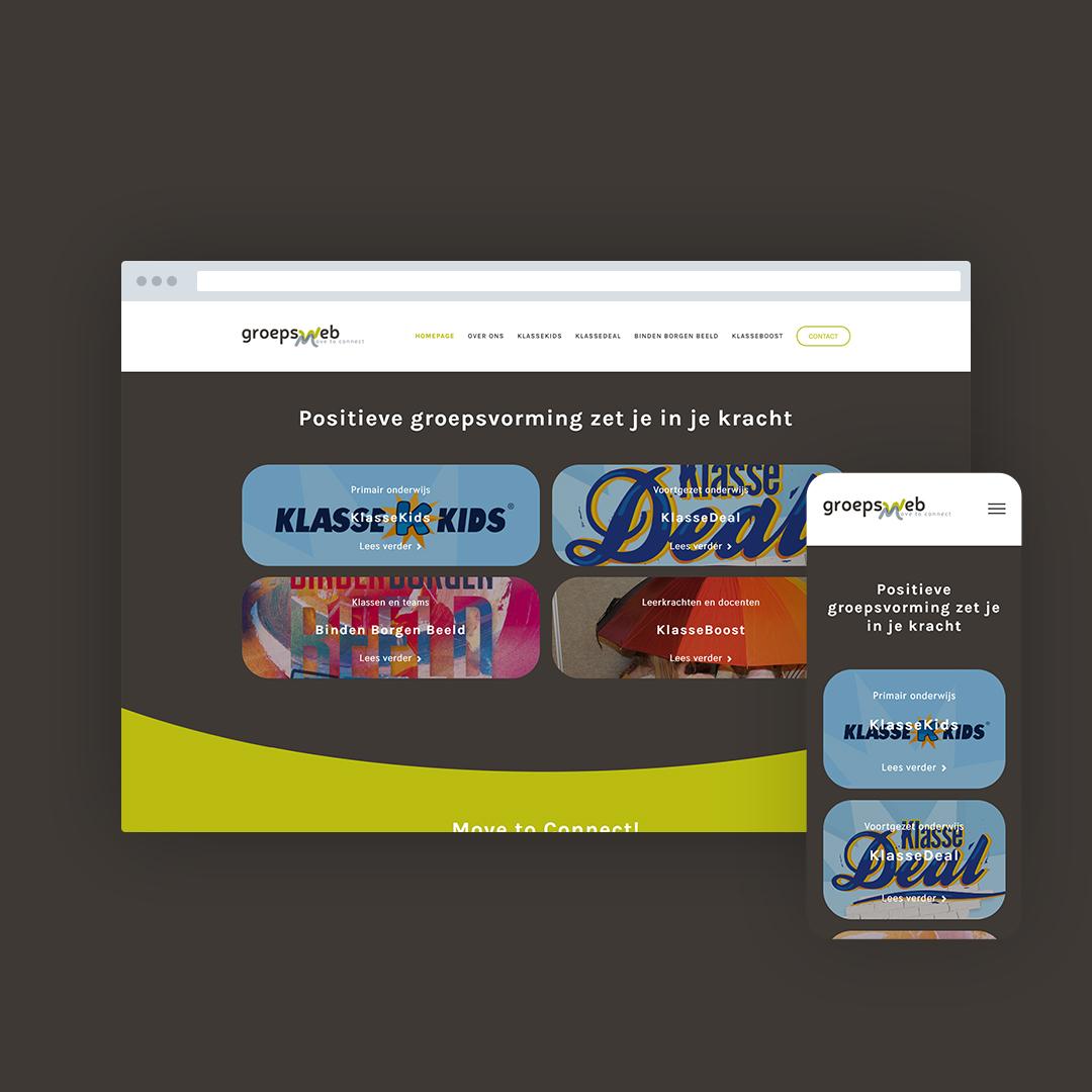 Nieuwe website voor Groepsweb