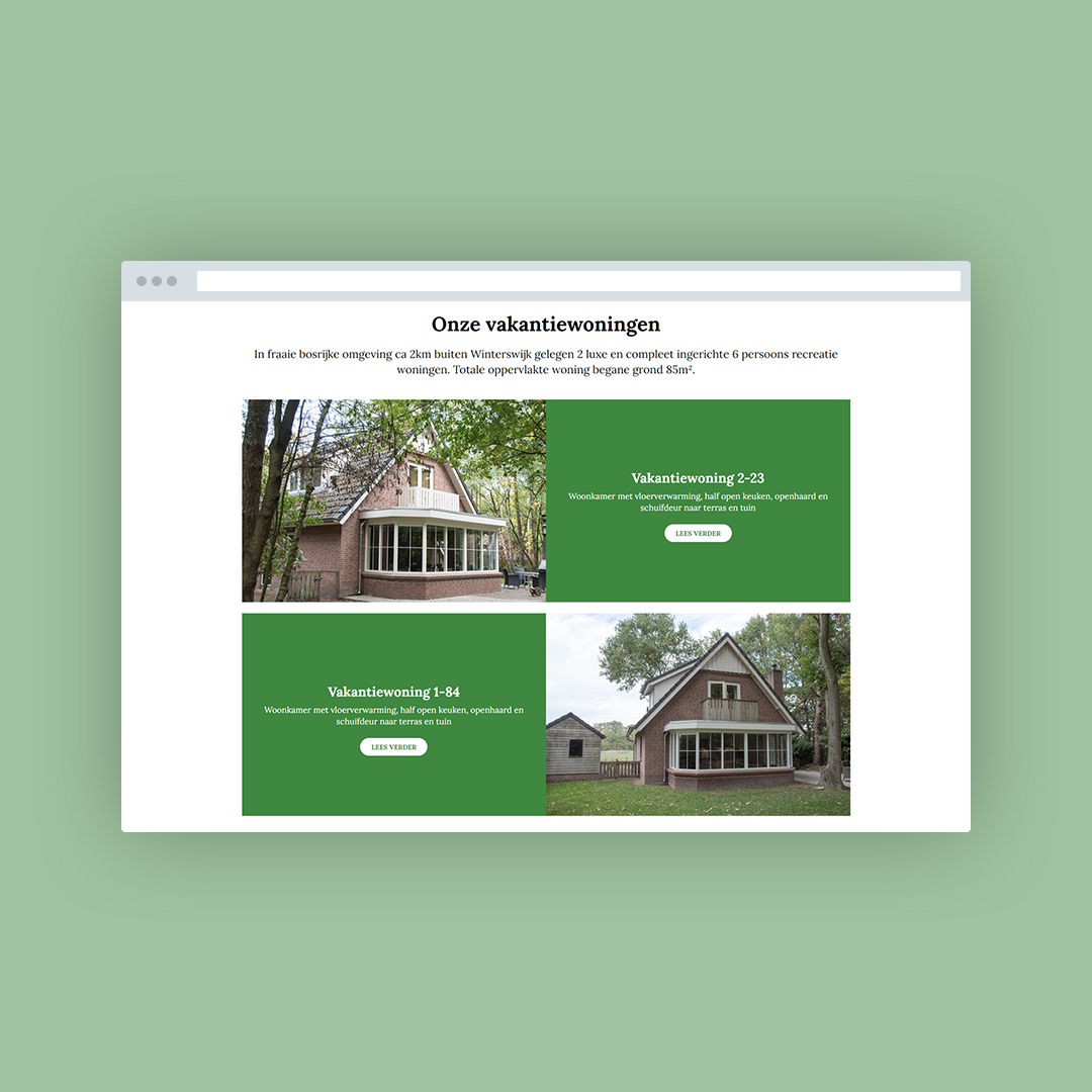 Nieuwe website voor Bosvakantie Winterswijk