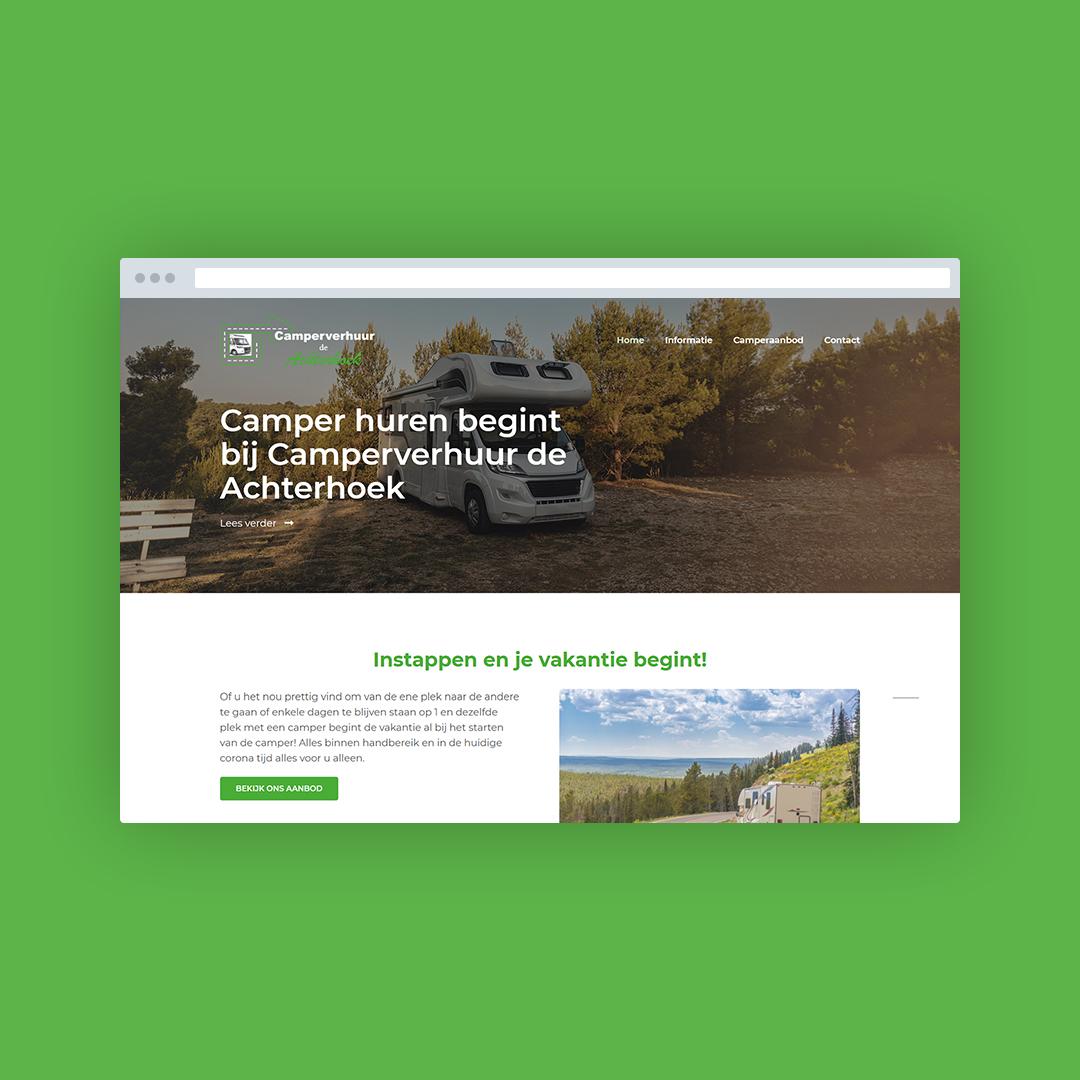 Nieuwe website voor Campers Achterhoek