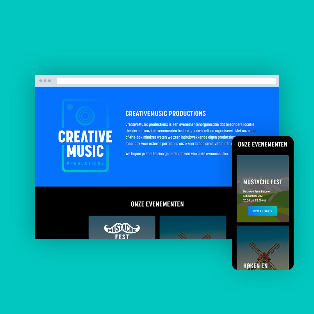 Nieuwe website voor CreativeMusic productions