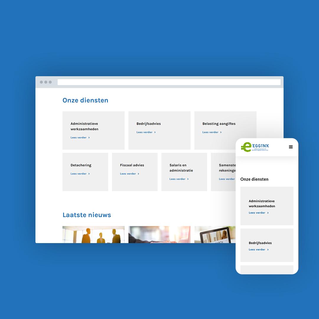 Nieuwe website voor Eggink Administratie