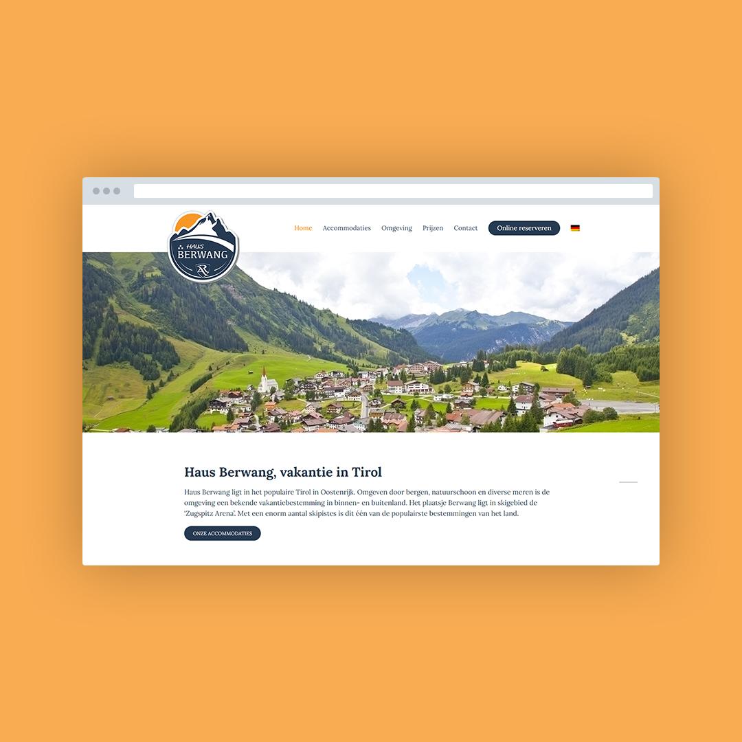 Nieuwe website voor Haus Berwang