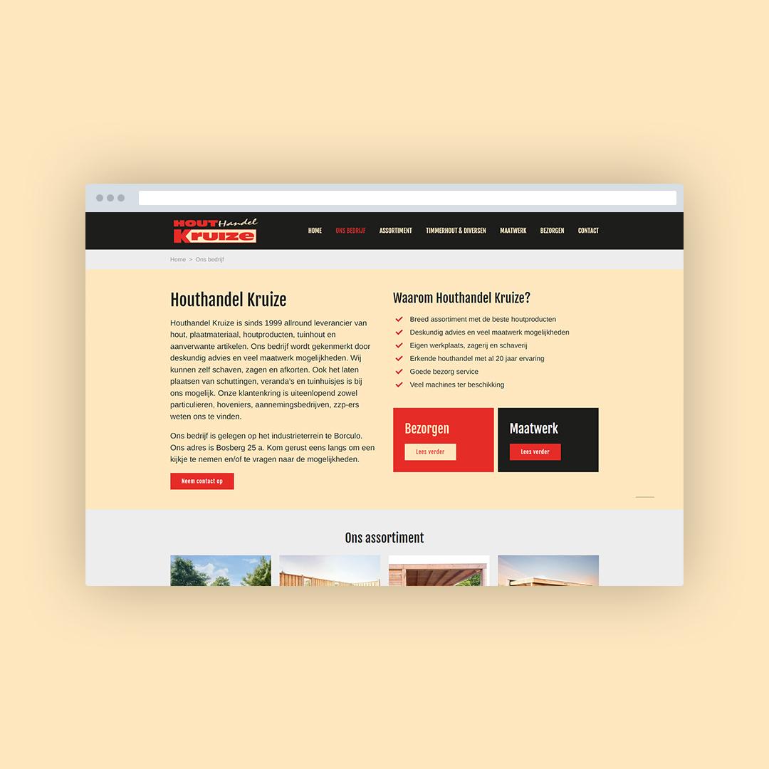 Nieuwe website voor Houthandel Kruize