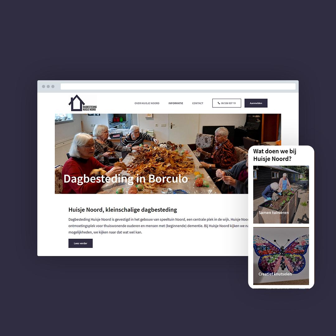 Nieuwe website voor Huisje Noord