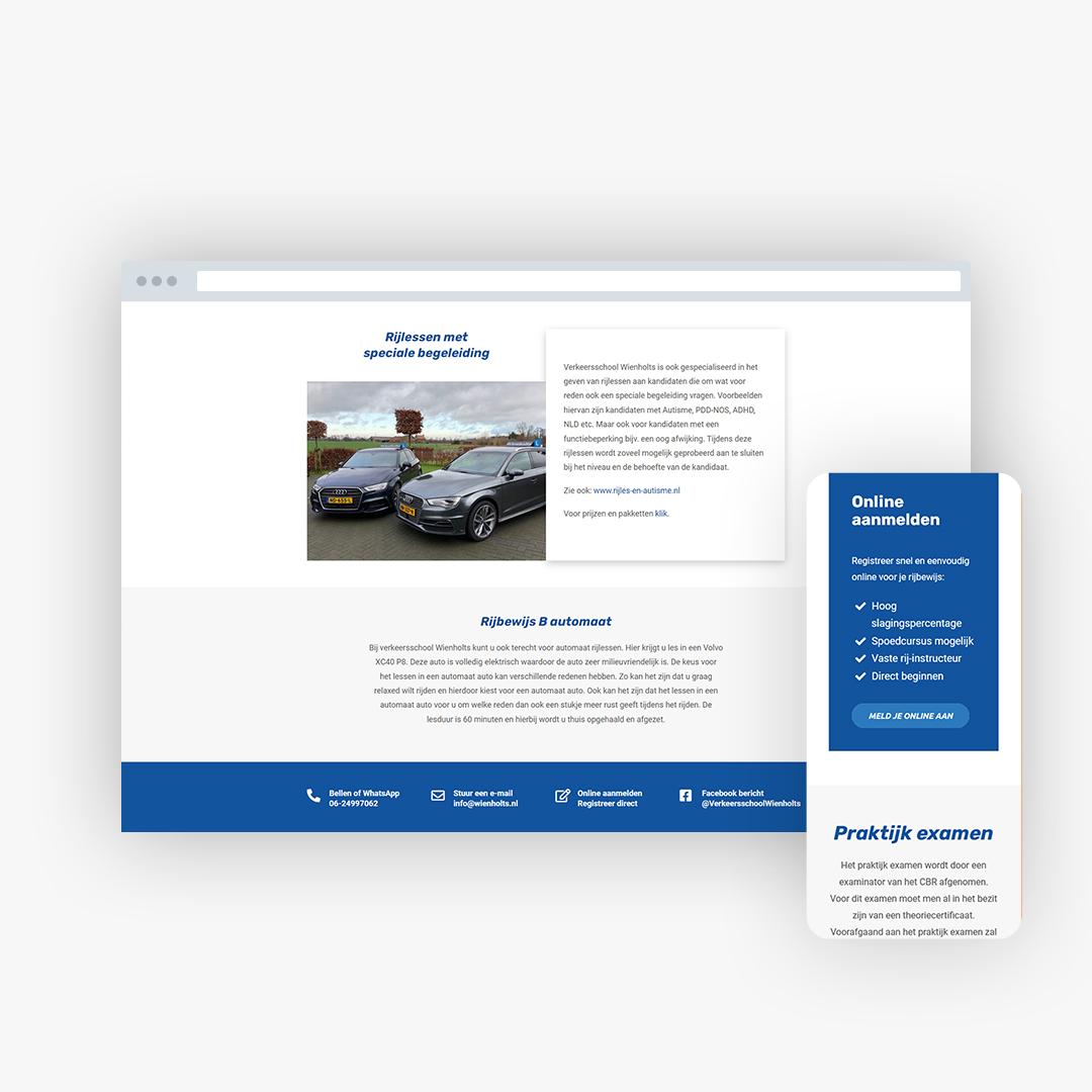 Nieuwe website voor Verkeersschool Wienholts