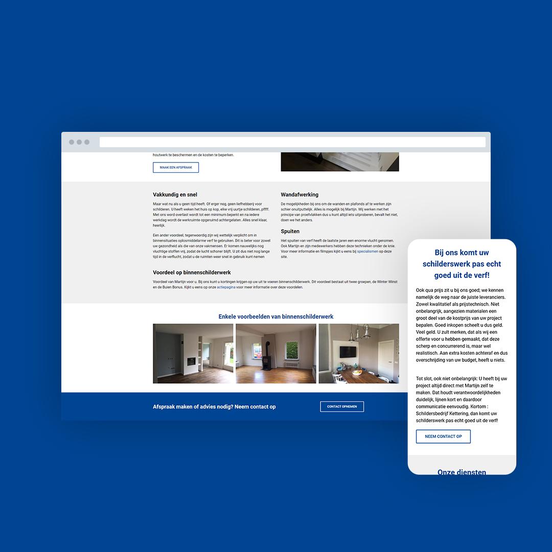 Nieuwe website voor Schildersbedrijf Kettering