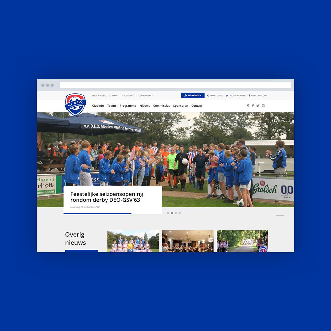 Nieuwe website voor V.v. DEO