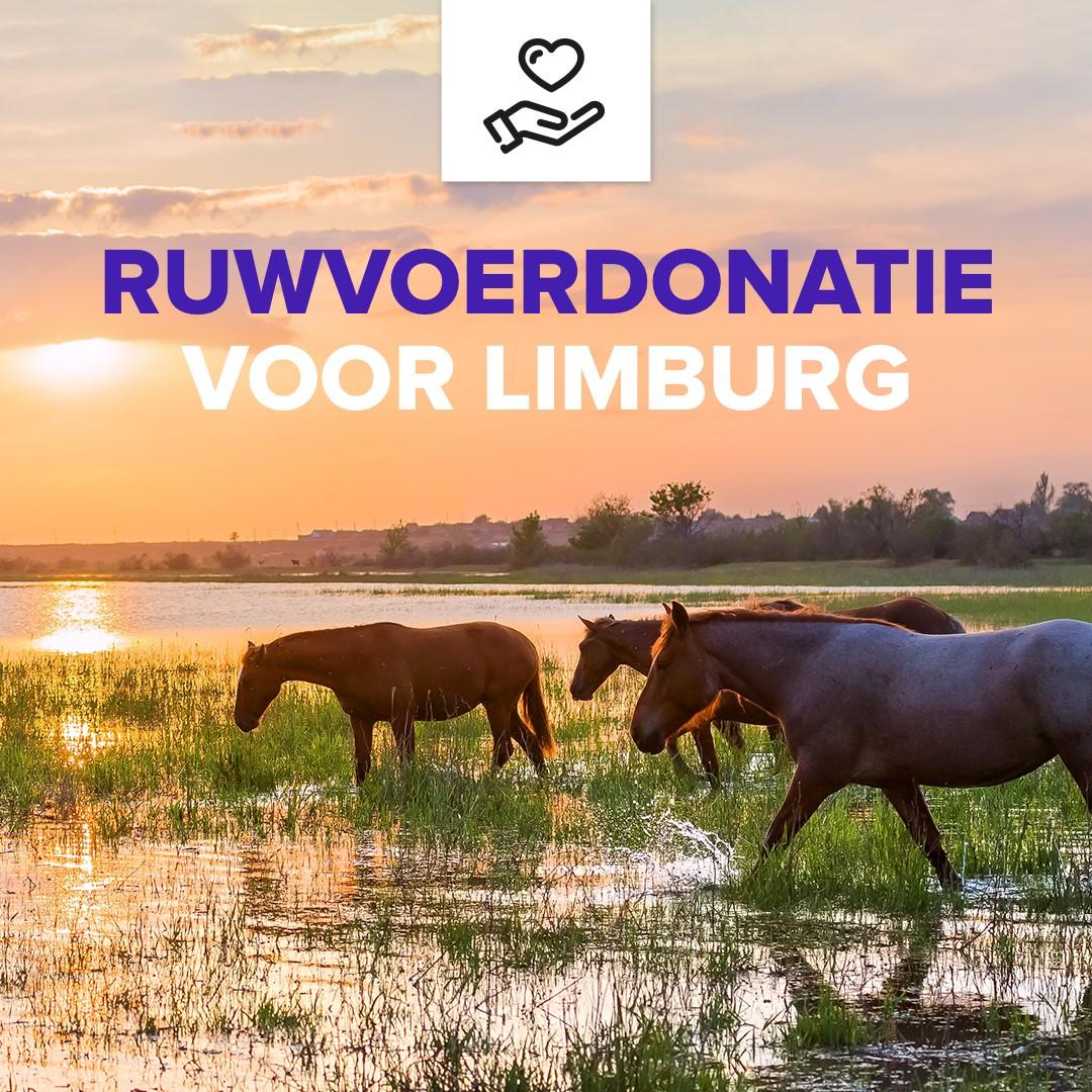Ruwvoer donatie actie voor Limburg