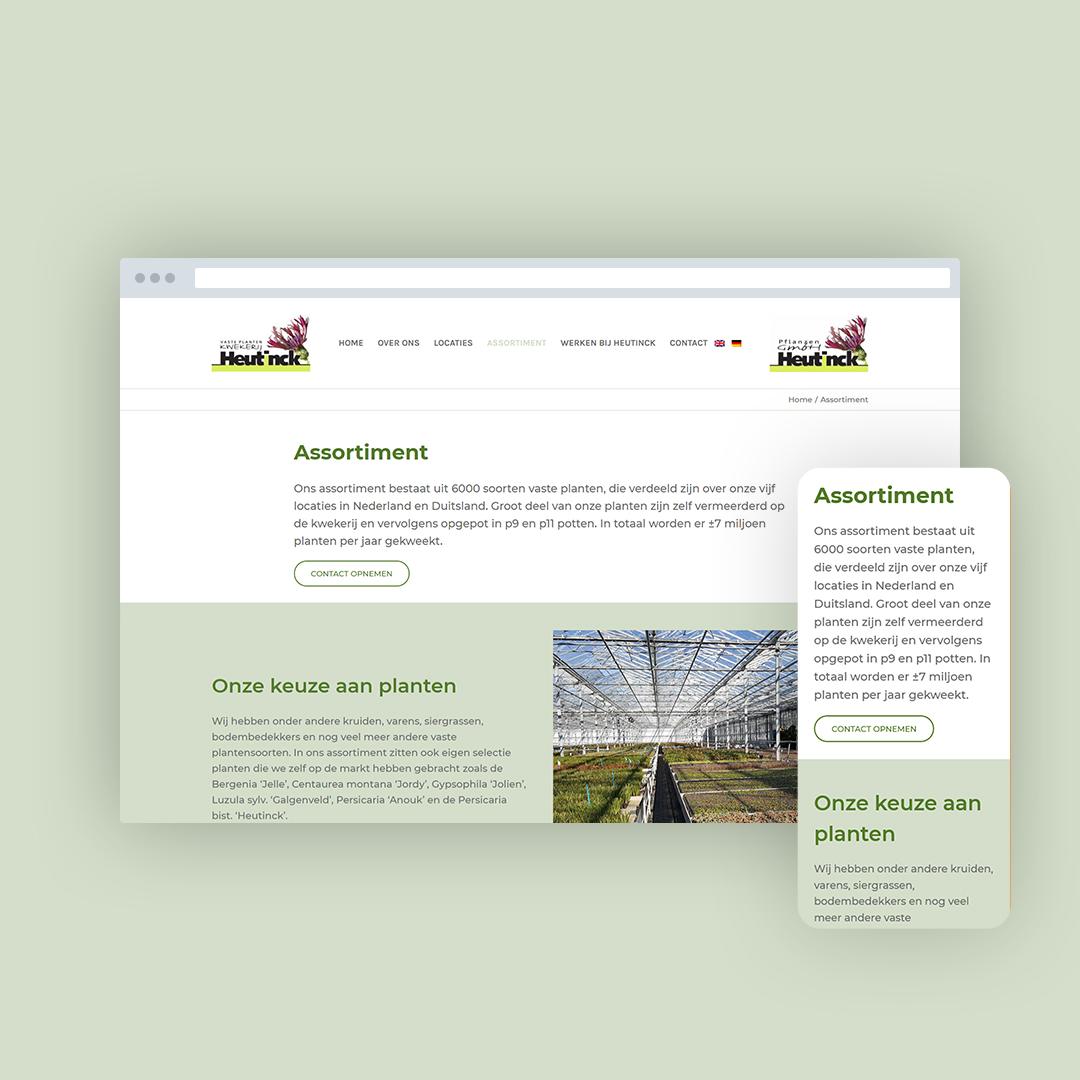 Nieuwe website voor Kwekerij Heutinck